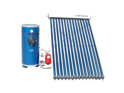 分離分割型強制循環真空管式太陽熱温水器