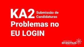 Problemas no EU Login