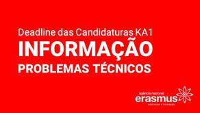 Deadline das Candidaturas KA1