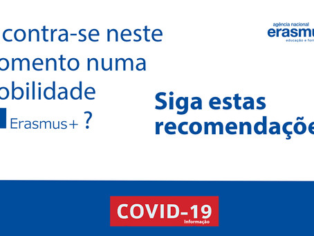 Comunicação sobre alunos Erasmus+