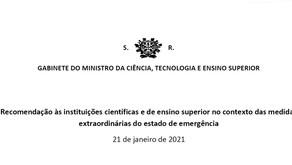 Ensino Superior | Medidas Extraordinárias do Estado de Emergência