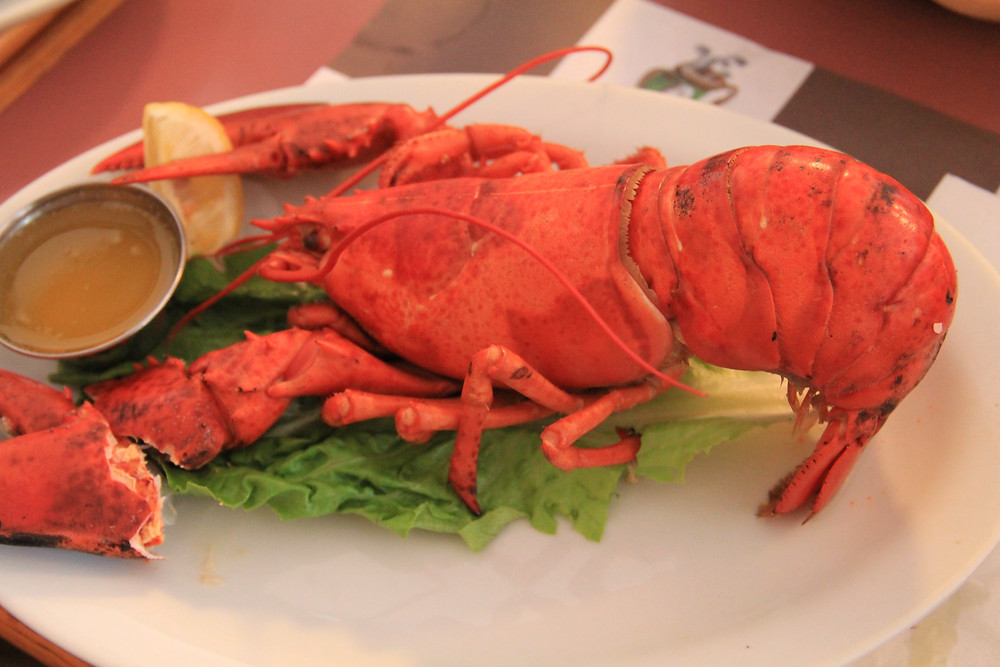 Our lobster dinner from the 2014 Newfoundland Tour!