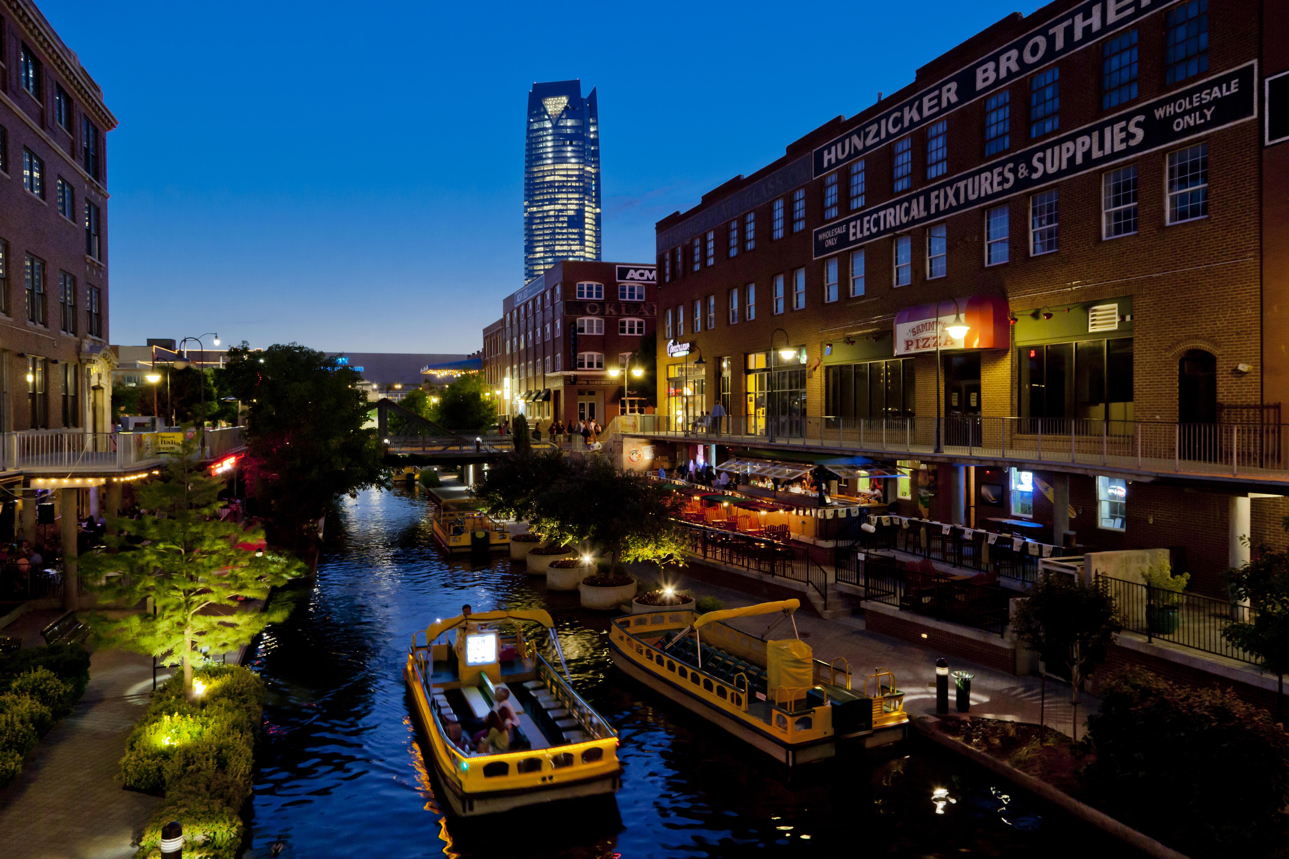 Oklahoma City Bricktown evening