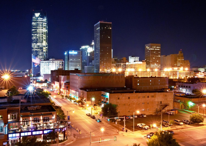 Oklahoma City Bricktown city view