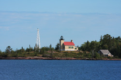 Attractive lighthouse in Copper Harbor,