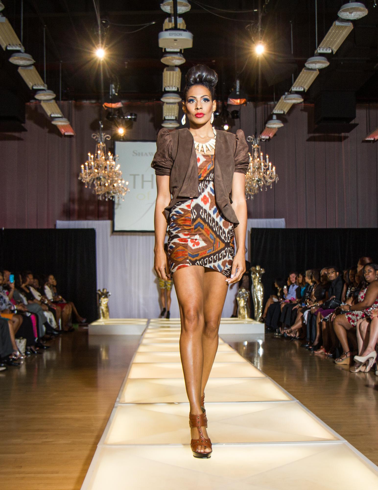 Psuedo Suede Jacket and Aztec Dress