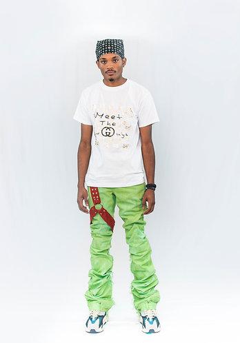 Green EDM Denim Jeans