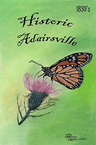 Adairsville 1830 Thistle with Monarch Butterfly