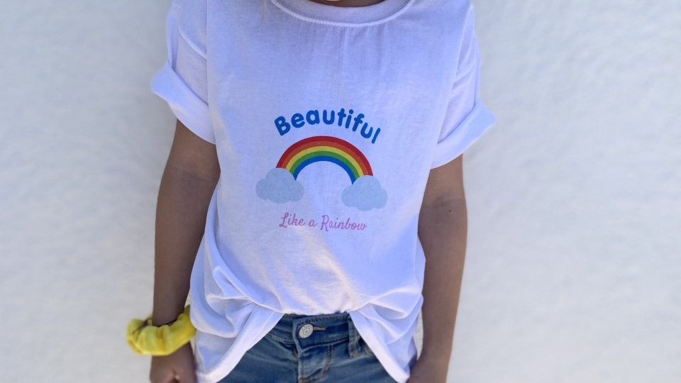 KIDS Beautiful- Like a Rainbow Shirt