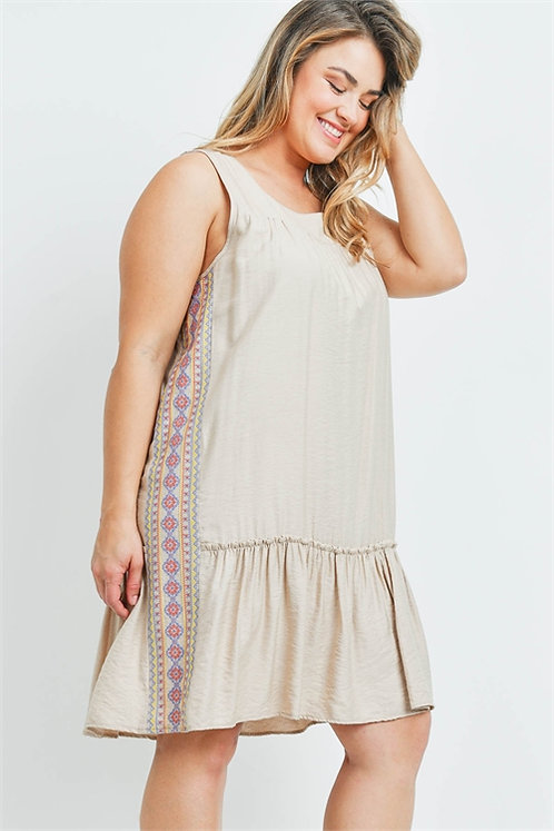 Tribal Taupe Dress
