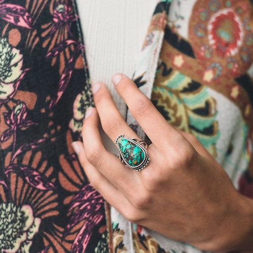 Raindrop Turquoise Ring