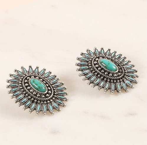 Turquoise Western Studs