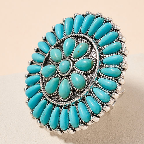Turquoise Western Cuff Ring