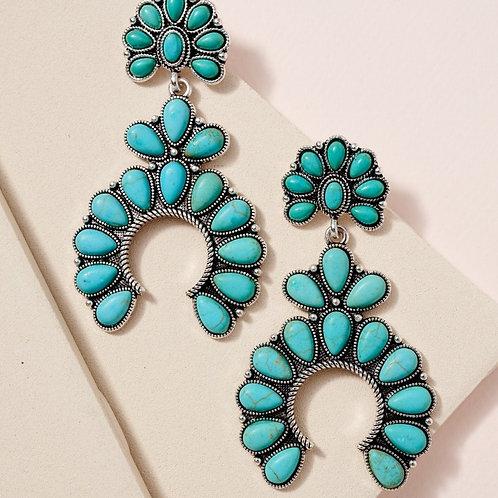 Natural Stone Western Earrings
