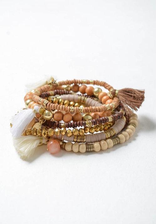 Multi Charm BoHo Stack Bracelets