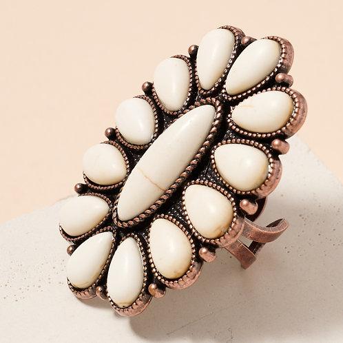 Stone Cuff Ring