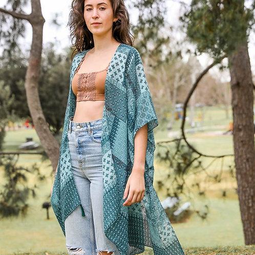 Sage Patchwork Kimono
