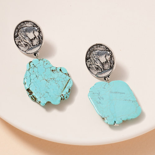 Buffalo Turquoise Earrings