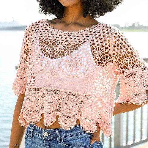 Rose Crochet Crop Top