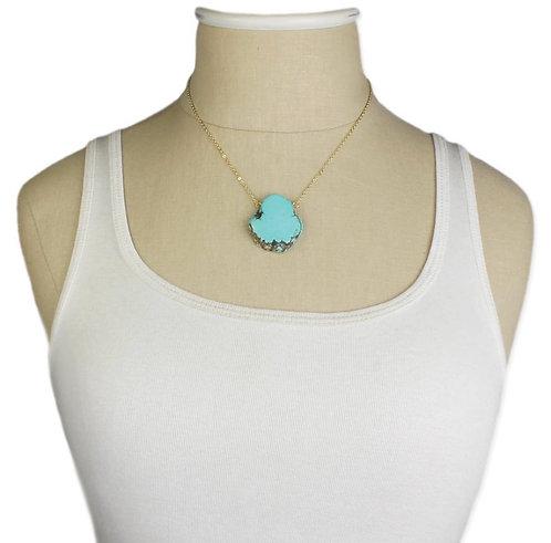 Turquoise Slab Necklace