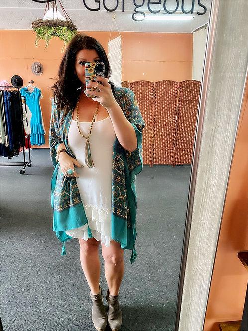 Ivory Ruffle Trim Dress