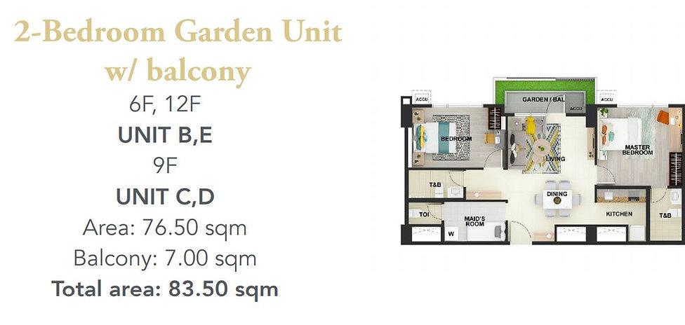 2 Bedroom Unit Layout
