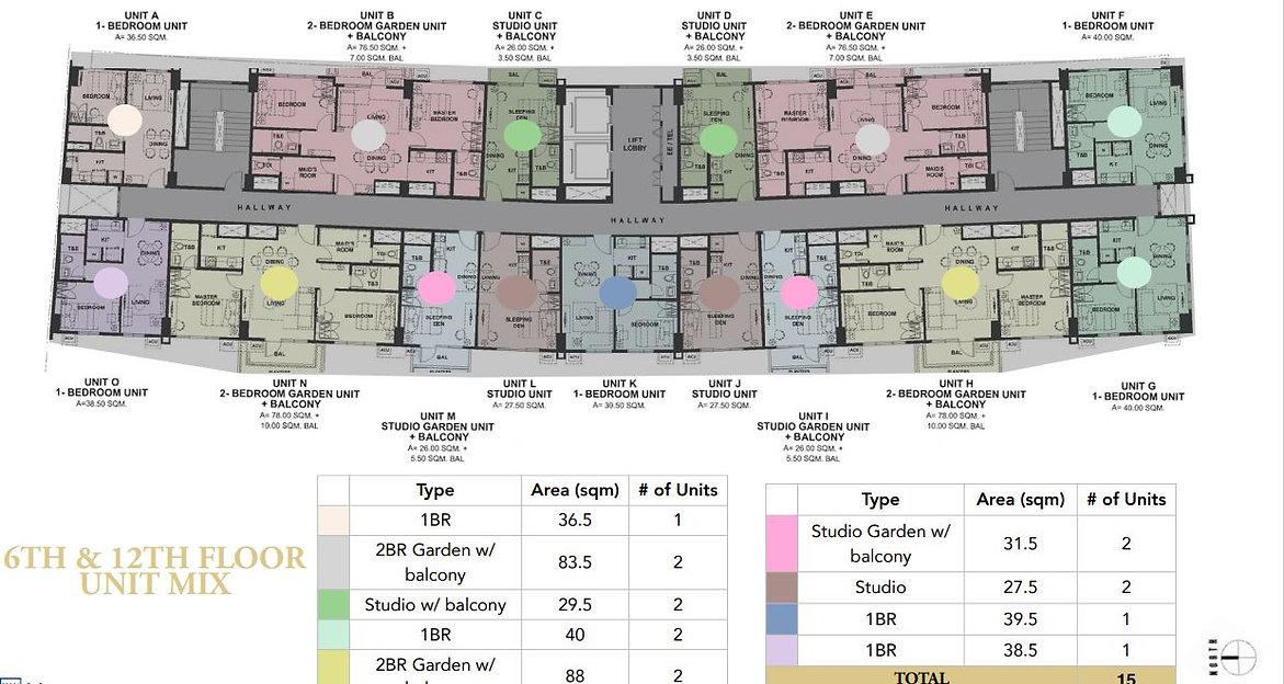 6th & 12th Floor plan