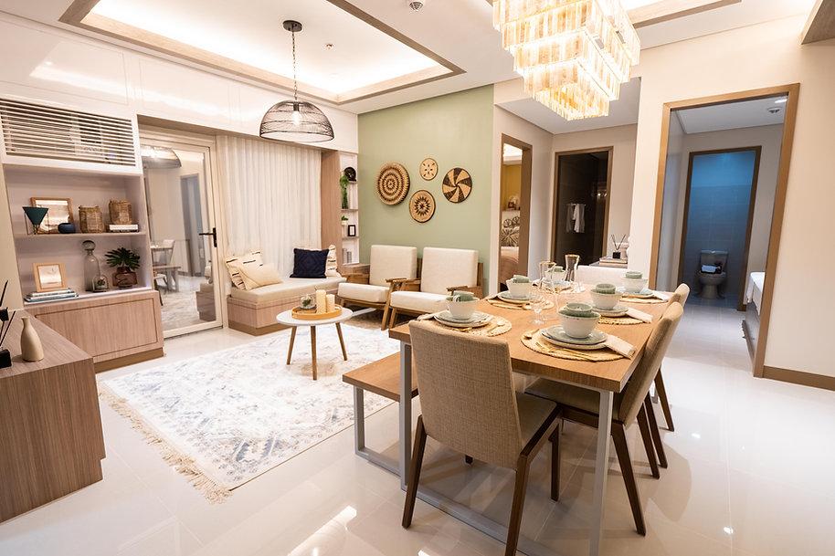 2 Bedroom Unit Living Area