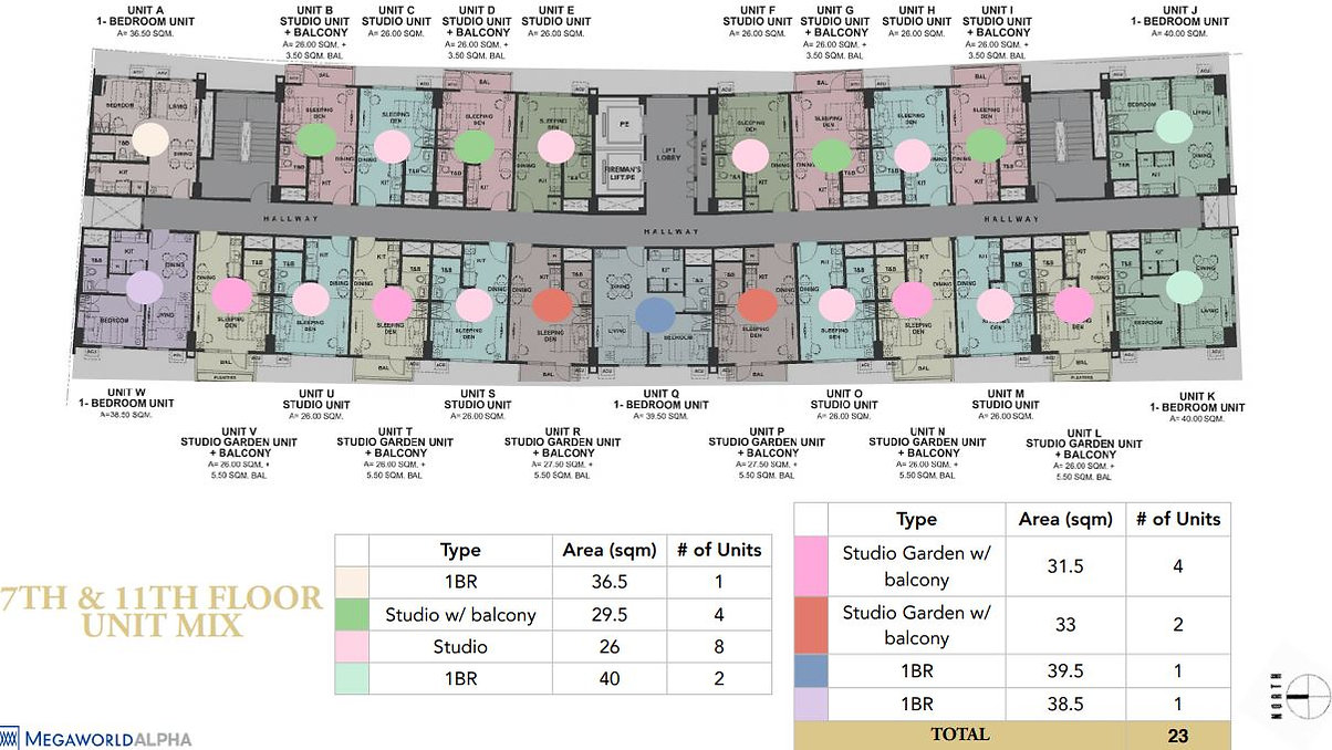 7th & 11th Floor plan