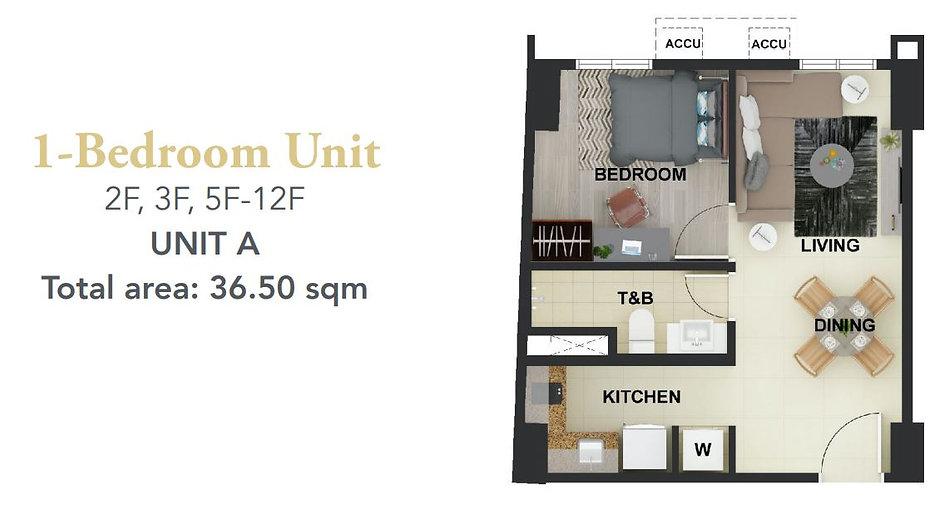 1 Bedroom Unit 36.50 sqm_