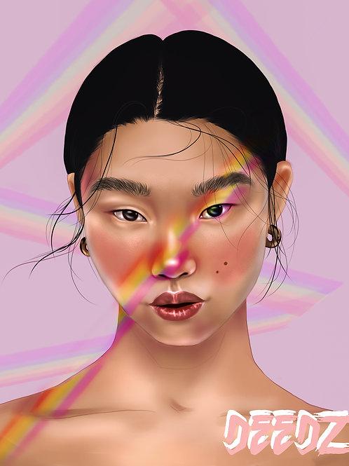 Rainbow Play (A5 Canvas Print)