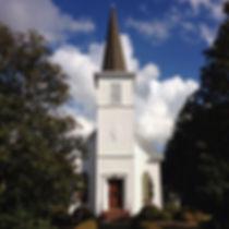 First Presbyterian Church of Waynesboro during Christmas