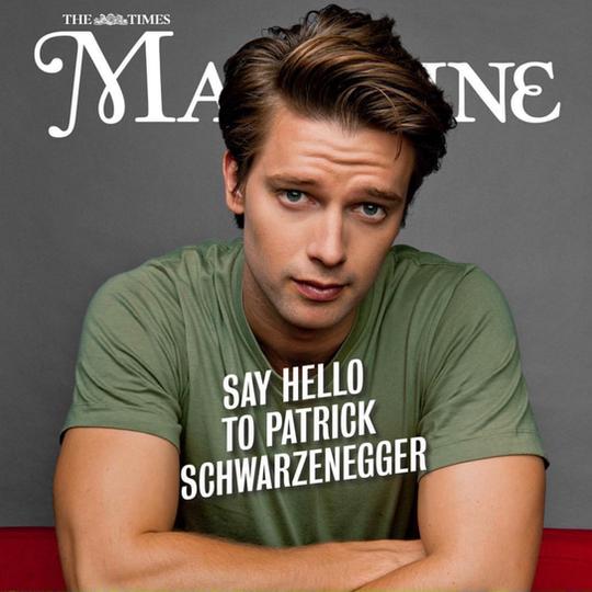 PATRICK SCHWARZENEGGER- THE TIMES MAGAZI