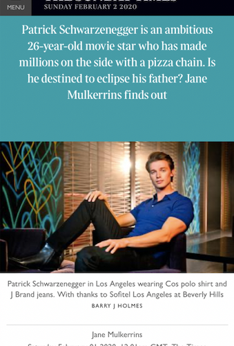 PATRICK SCHWARZENEGGER- THE TIMES MAG.pn