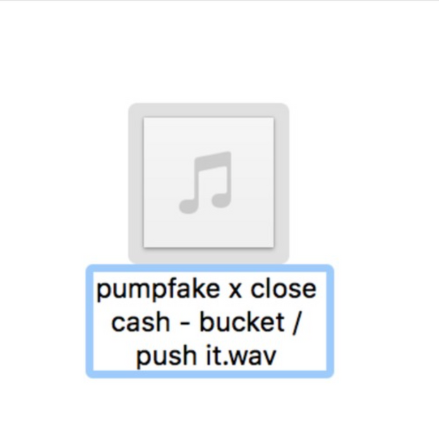 pumpfake x close cash - bucket / push it