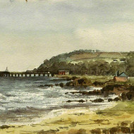 The Beachm Invercloy, Arran, 1902
