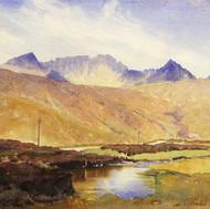 Watercolour, Hills of Arran