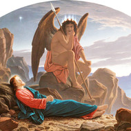 Satan watching the sleep of christ, 1874