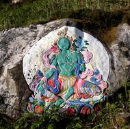 Dechi Wangmo - painted carving