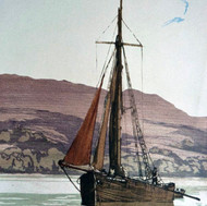 Arran, The Coal Boat (sketch)