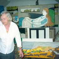 Margot in her studio, Corrie, 1980