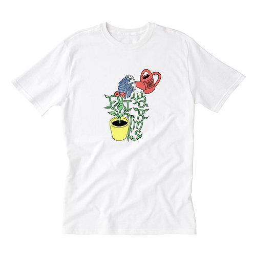 Grow Peace Tee in White