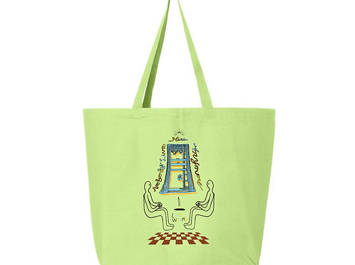 Levitators Grocery Tote in Lime