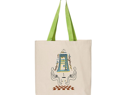 Levitators Essential Tote in Natural w. Lime