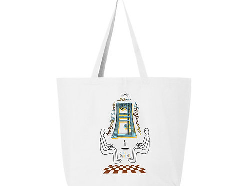 Levitators Grocery Tote in White