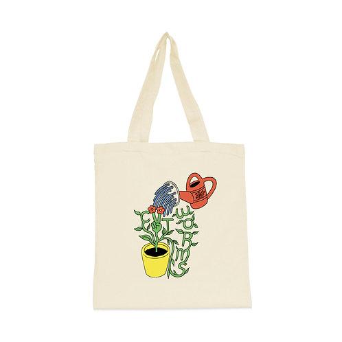 Grow Peace Tote Bag in Natural