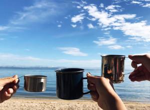 コーヒーとバターロール