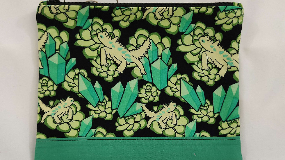 Zip Pouch Medium - Lizards