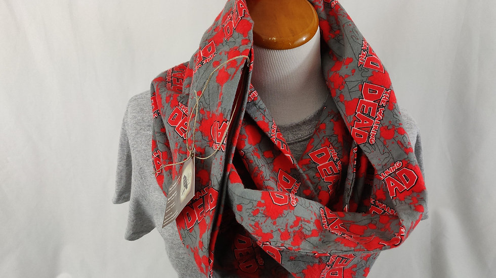Infinity Scarf w/ Pocket - Walking Dead
