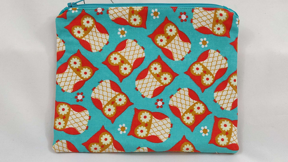 Zip Pouch Medium - Owls